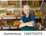 portrait of confident owner... | Shutterstock . vector #1369725473