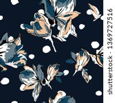 floral seamless pattern with... | Shutterstock .eps vector #1369727516