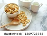 close up of cereal on white... | Shutterstock . vector #1369728953