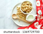 close up of cereal on white... | Shutterstock . vector #1369729700