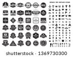 vintage retro vector logo for... | Shutterstock .eps vector #1369730300