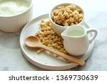 close up of cereal on white... | Shutterstock . vector #1369730639