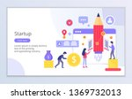 creative website template of... | Shutterstock .eps vector #1369732013