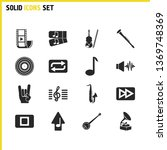 melody icons set with sound... | Shutterstock .eps vector #1369748369