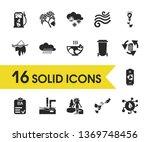environment icons set with eia...