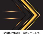 abstract yellow light arrow... | Shutterstock .eps vector #1369748576