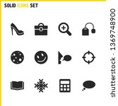 universal icons set with tea...