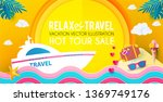hot vacation design template.... | Shutterstock .eps vector #1369749176