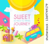sweet journey. vacation and...   Shutterstock .eps vector #1369749179