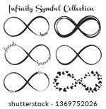 set of infinity symbols... | Shutterstock .eps vector #1369752026
