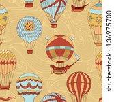aerostats vector seamless... | Shutterstock .eps vector #136975700
