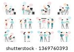 business people character set.... | Shutterstock .eps vector #1369760393