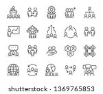 set of business people icons ... | Shutterstock .eps vector #1369765853