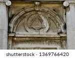 detail of cathedral in rome... | Shutterstock . vector #1369766420