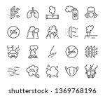 set of air pollution icons ... | Shutterstock .eps vector #1369768196