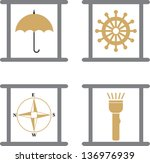 transport  travel vector... | Shutterstock .eps vector #136976939
