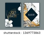 set of elegant  chic brochure ... | Shutterstock .eps vector #1369773863