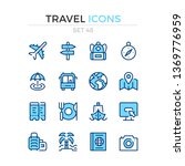 travel icons. vector line icons ... | Shutterstock .eps vector #1369776959