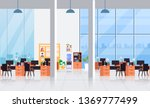 big empty office interior... | Shutterstock .eps vector #1369777499