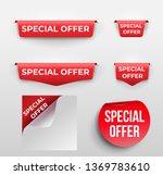 set of red banner special offer.... | Shutterstock .eps vector #1369783610