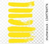 highlighter.hand drawn yellow... | Shutterstock .eps vector #1369786976