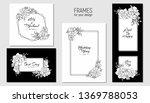 floral set of invitation  rsvp  ...   Shutterstock .eps vector #1369788053