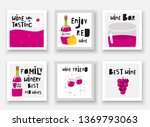 cute hand drawn doodle cards ... | Shutterstock .eps vector #1369793063