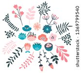 hand drawn set of colorful... | Shutterstock .eps vector #1369799540