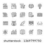 copywriting flat line icons set.... | Shutterstock .eps vector #1369799750