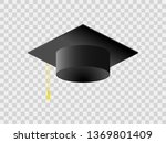 black square academic cap... | Shutterstock .eps vector #1369801409
