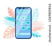 smartphone menu interface  gui...