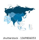 colorful blue vector... | Shutterstock .eps vector #1369806053