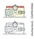 website speed loading time... | Shutterstock .eps vector #1369814066