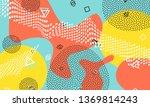 abstract memphis design. colour ... | Shutterstock .eps vector #1369814243