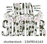 hello summer vector isolated...   Shutterstock .eps vector #1369816163