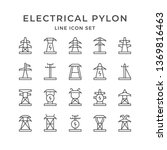 set line icons of electrical... | Shutterstock .eps vector #1369816463