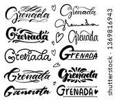 set of hand lettering grenada   ...   Shutterstock .eps vector #1369816943