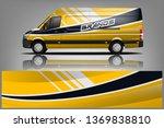 van wrap design. wrap  sticker... | Shutterstock .eps vector #1369838810