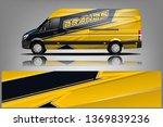 van wrap design. wrap  sticker... | Shutterstock .eps vector #1369839236