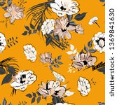 floral seamless pattern with... | Shutterstock .eps vector #1369841630