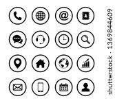 web icon set. set of web icon... | Shutterstock .eps vector #1369844609