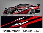 car wrap design vector  truck... | Shutterstock .eps vector #1369853669
