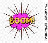 comic speech bubbles or sound...   Shutterstock .eps vector #1369855769