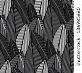 black and white jungle plants.... | Shutterstock .eps vector #136985660