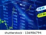world economics graph. finance... | Shutterstock . vector #136986794