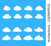 white speech bubbles. thinking... | Shutterstock .eps vector #1369869023