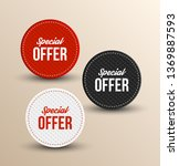 special offer banners. vector... | Shutterstock .eps vector #1369887593