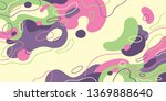 fluid style abstraction made of ... | Shutterstock .eps vector #1369888640