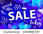 vector sale banner  poster with ... | Shutterstock .eps vector #1369888739