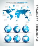 infographic layout template... | Shutterstock .eps vector #136989878